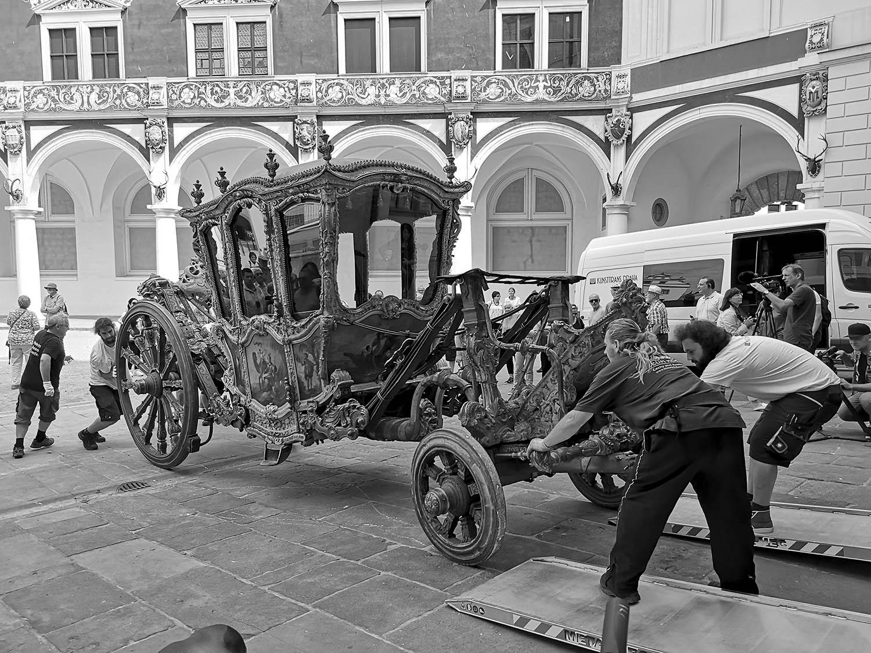 Prunkgondeln, Prachtkutschen und Pferdeäpfel / Quelle: Verkehrsmuseum Dresden